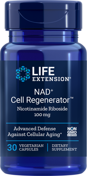 Life Extension NAD+ Cell RegeneratorTM Nicotinamide Riboside - 100mg - 30 vegetarische Kapseln