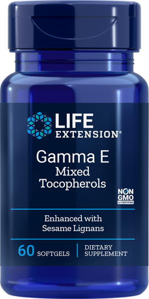 Life Extension Gamma E Mixed Tocopherols 60 softgels