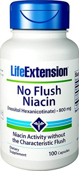 Life Extension No Flush Niacin 100 Kapseln - Inositol Hexanicotinate