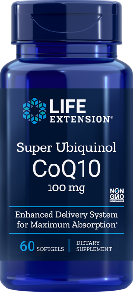 Life Extension Super Ubiquinol CoQ10 - 100mg - 60 Kapseln