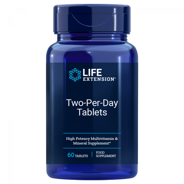 Life Extension - Two per Day Tablets - 60 vegetarische Tabletten