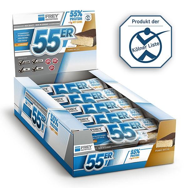 Frey Nutrition - 55er Protein Riegel 20 x 50g Eiweißriegel