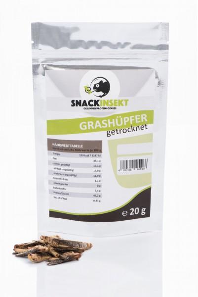SnackInsekt Grashüpfer - gefriergetrocknet 20g - Protein-quelle