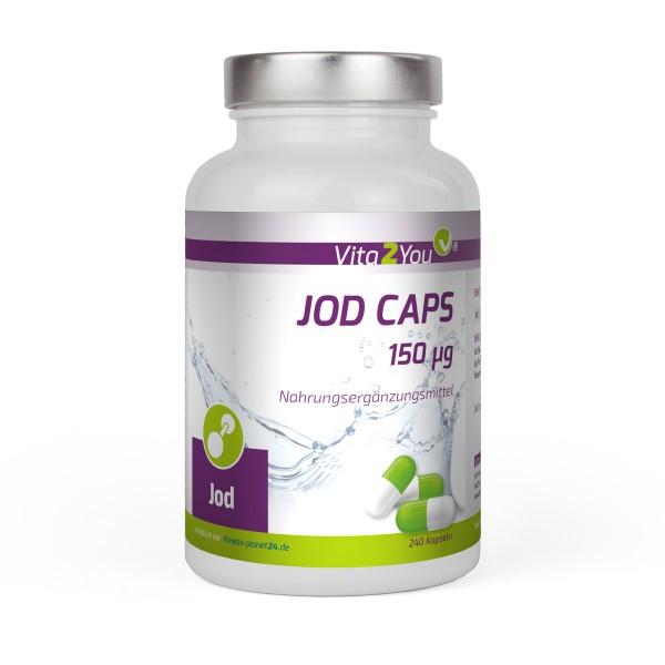 Vita2You Jod Caps 150μg - 240 Kapseln - Premium Qualität