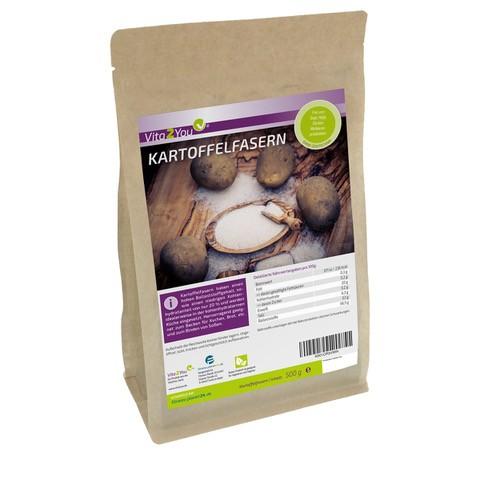 Vita2You Kartoffelfasern 500g - wenig Kohlenhydrate - Zippbeutel - Premium Qualität