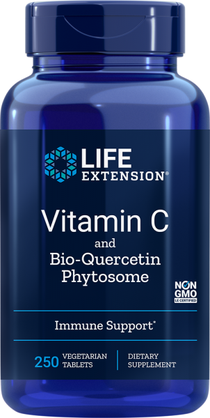 Life Extension Vitamin C mit Bio-Quercentin Phytosome 1000 mg - 250 vegetarische Tabletten