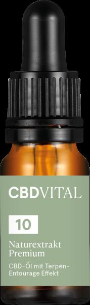 Vitrasan CBD Hanföl 10% Cannabidiol - Naturextrakt - 10ml - CBD-VITAL - Premium Qualität