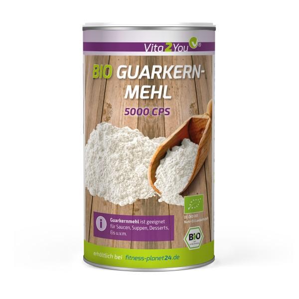 Vita2You Bio Guarkernmehl 250g - 5000CPS - Guar Gum - Ballaststoff - Bindemittel - Verdickungsmittel