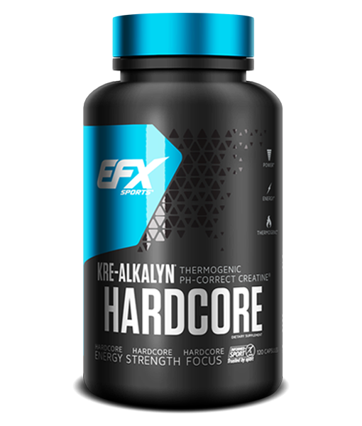 EFX Kre-Alkalyn Hardcore 120 Kapseln - Kreatin mit Koffein