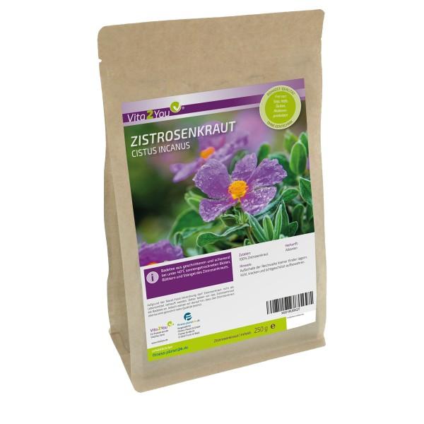 Zistrosenkraut 250g - Cistus Incanus - Zistrosentee (Bade Tee) - Vegan und naturbelassen