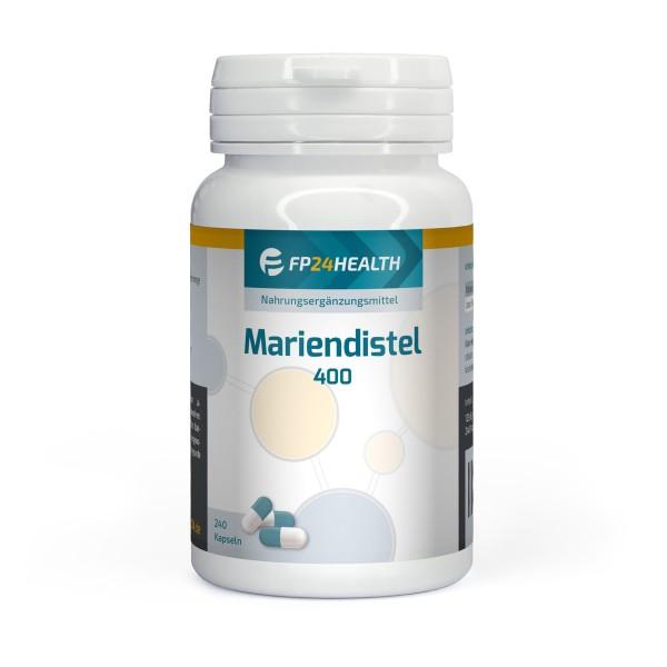 FP24 Health Mariendistel Extrakt 400mg - 80% Silymarin - 240 Kapseln