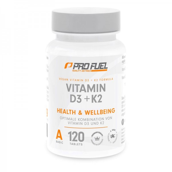 PROFUEL Vitamin D3 + K2 - 120 Tabletten - Vegan