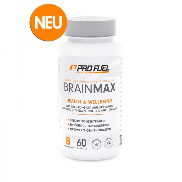 PROFUEL BrainMax 60 Kapseln - Konzentrations- & Gedächtnis Booster
