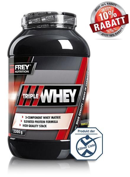 Frey Nutrition - Triple Whey Protein 2300g Eiweiss Dose