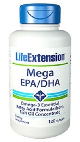 Life Extension - Mega EPA/DHA 600mg 120 Softgels - Fettsäuren & Vitamine