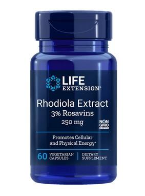 Life Extension - Rhodiola Extrakt - 3% Rosavins - 60 Kapseln
