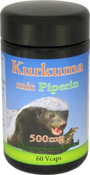 Robert Franz Kurkuma 500mg mit Piperin - 60 Kapseln