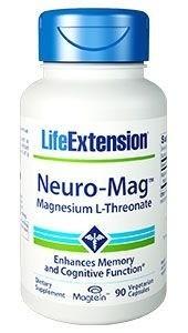 Life Extension Neuro-Mag Magnesium L-Threonate - 2000mg Magtein Magnesium - 90 vegetarische Kapseln