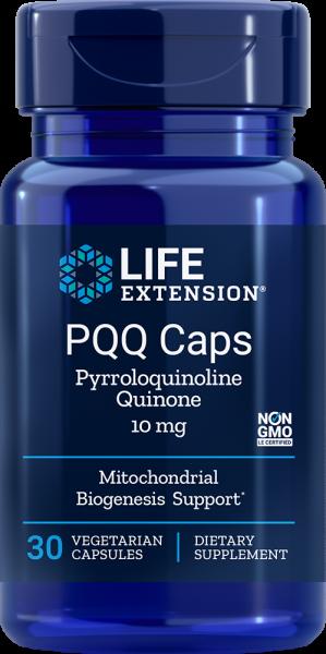 Life Extension PQQ Caps - 10mg PQQ Pyrroloquinolin Chinon Dinatrium-Salz, 30 vegetarische Kapseln