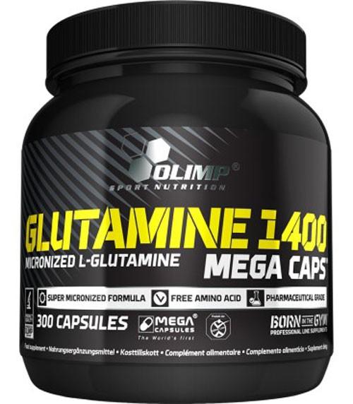 Olimp Glutamin 1400 Mega Caps - 300 Kapseln - Aminosäuren