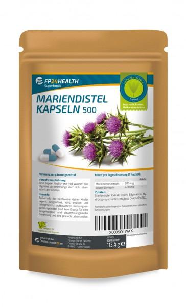 FP24 Health Mariendistel Extrakt 500mg - 80% Silymarin - 180 Kapseln