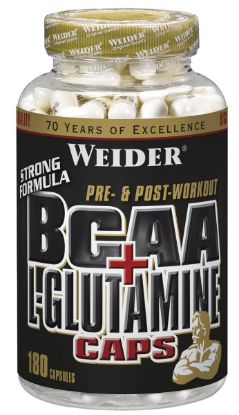 Weider - BCAA + L-Glutamin Caps - 180 Kapseln