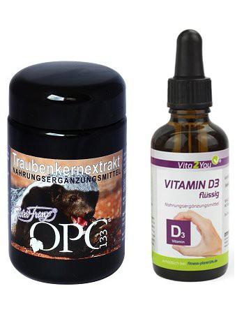 Robert Franz OPC 133 Traubenkernextrakt + Vita2You Vitamin D3 Tropfen - Sparpaket