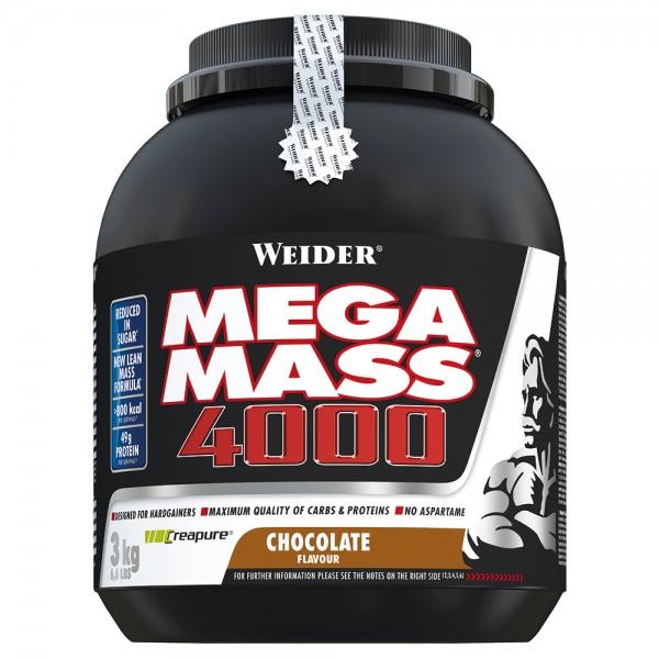 Weider - Mega Mass 4000 3 kg - Weight Gainer