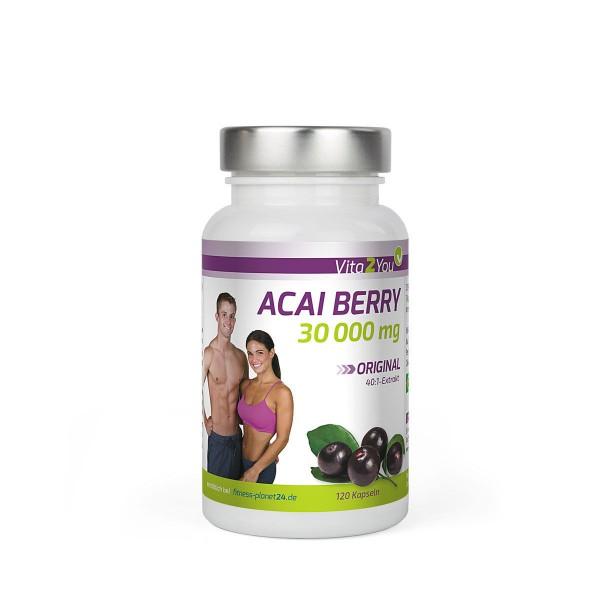 Vita2You ACAI Berry 30000mg 40:1 Extrakt - 120 Kapseln - Wundermittel?