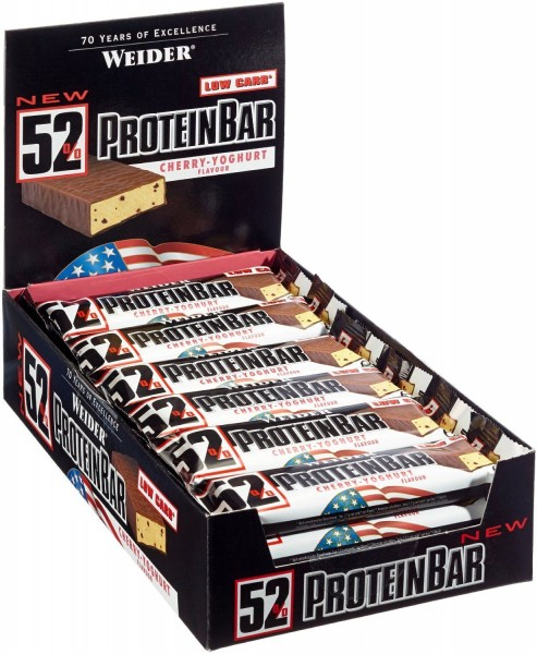 Weider - 52% Protein Bar - Protein Riegel - 24 x 50g
