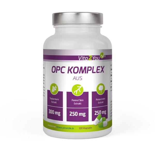 Vita2You OPC Komplex 120 Kapseln - Aus Traubenkernextrakt - Pinienrindenextrakt - MHD 10/2019