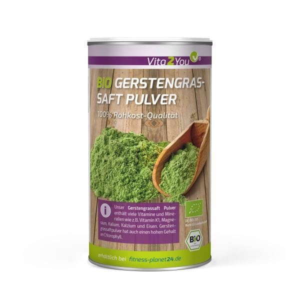 Vita2You Bio Gerstengrassaft Pulver 200g Saftpulver - Gerstengras - Rohkost - Premium Qualität