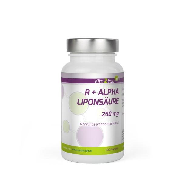 Vita2You R Alpha Liponsäure 250mg - 120 Kapseln - Hohe Bioverfügbarkeit - Hochdosiert