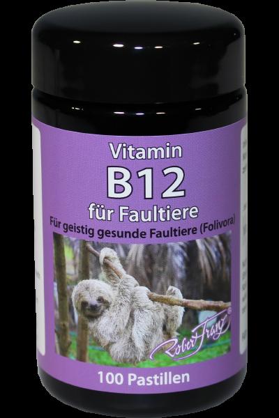 Robert Franz Vitamin B12 - 1000μg - 100 Pastillen - für Faultiere - Lutschtabletten