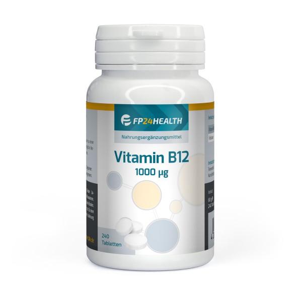 FP24 Health Vitamin B12 - 1000μg - 240 Tabletten mit Folsäure - Top Qualität