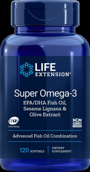 Life Extension - Super Omega 3 - EPA/DHA 120 Softgels - Fettsäuren & Vitamine