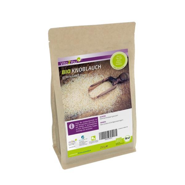 Vita2You Bio Knoblauch granuliert - 250g Beutel - Premium Qualität