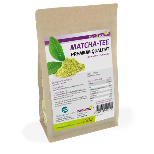 Vita2You Matcha Tee 100g (Original Grüner Matcha) im Zippbeutel - Premium Qualität