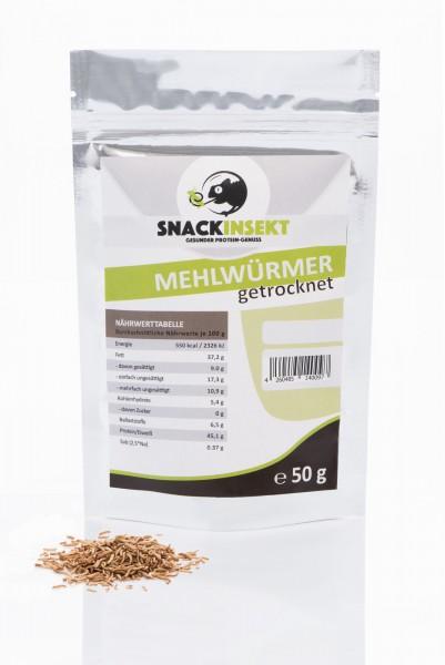 SnackInsekt Mehlwürmer - gefriergetrocknet - gemahlen 50g - Protein-quelle - MHD 01/2020